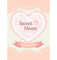cute pastel sweet elegant soft orange peach lace vector image vector image