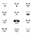 different emotions of cat face vector image vector image