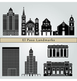El Paso landmarks and monuments vector image vector image