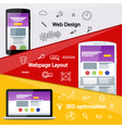 Flat material design banner vector image vector image
