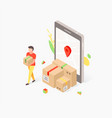 free express fast delivery shipping concept vector image