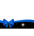 gift card with blue ribbon bow isolated on white vector image