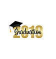 graduation cap template design elements vector image vector image