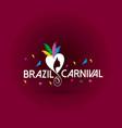 happy brazilian carnival day creative white vector image vector image