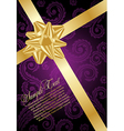 holiday violet background vector image
