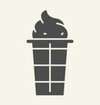 ice cream solid icon dessert vector image