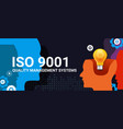 iso 9001 quality management systems certification vector image