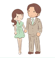 isolated couple holding hand vector image