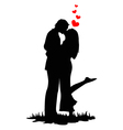 Kissing lovers vector image vector image