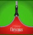 Knitted Christmas Background With Iron Zip vector image