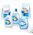 laundry detergent package design set of vector image vector image