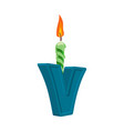 letter v birthday font letter and candle vector image