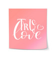 lettering design valentine day vector image