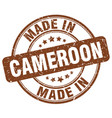 made in cameroon vector image vector image