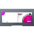 magenta brochure design horizontal cover template vector image vector image