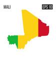 mali map border with flag eps10 vector image