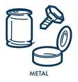 metal objects made steel or iron garbage or vector image vector image