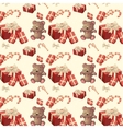 pattern new year vector image
