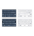 phone keyboard mockup qwerty keypad alphabet vector image
