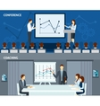 Public speaking 2 flat horizontal banners vector image vector image