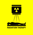 radiation therapy medical logo icon design vector image vector image