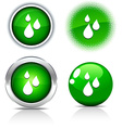 Rain buttons vector image vector image