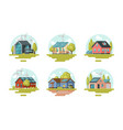 real estate set residential property vector image vector image
