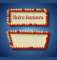 retro sign with glowing lamps vector image vector image