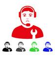 sad call center serviceman icon vector image vector image