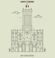 saint-etienne cathedral in saint etienne vector image vector image