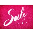 Sale word in pink and white colors vector image