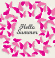 say hello to summer natural background vector image vector image