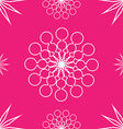 Seamless abstract stars on pink vector image vector image