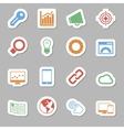 Seo Icons as Labes vector image vector image