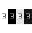 set line holy book koran icon isolated on black vector image vector image