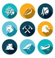 Set of Apaches Icons Injun Bow and arrow vector image