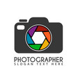 shutter camera logo icon symbols app icon vector image