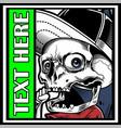 skull wearing cap hand drawing vector image vector image