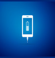 smartphone battery charge icon isolated vector image vector image