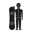 snowboarder black concept icon snowboarder vector image