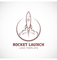 startup rocket space ship abstract logo vector image