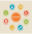 success concept with icons vector image