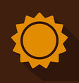 sun icon trendy summer symbol for website design vector image vector image