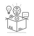 thinking outside boxidea management line vector image