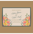 wedding invitation pink card vector image vector image