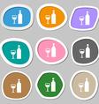 Wine Icon symbols Multicolored paper stickers vector image vector image