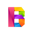 B letter one line colorful logo design template vector image