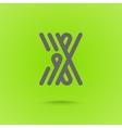 X Letter X type line shape X Line Logo Design vector image