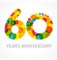 60 years anniversary circle colored logo