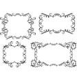 a set decorative vintage frames vector image vector image